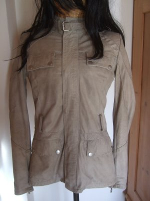 BELSTAFF LEDERJACKE HEMLEY - GR. 36 / 38 IT. 42 GOLD LABEL - GRAU - TOP