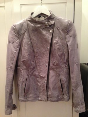Belstaff Leather Jacket grey-silver-colored leather
