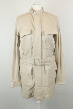 Belstaff Leather Coat oatmeal leather