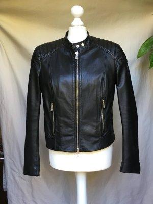Belstaff 'Mollison' Biker-Lederjacke schwarz