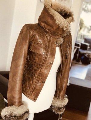 Belstaff Leather Jacket cognac-coloured