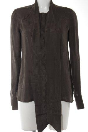 Belstaff Zijden blouse donkerbruin-bruin geruite print casual uitstraling