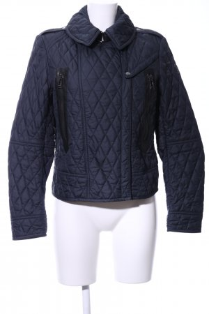 Belstaff Quilted Jacket blue quilting pattern casual look