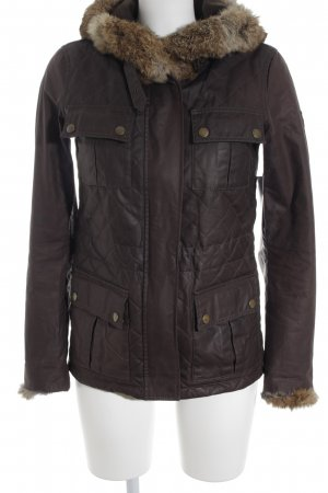 Belstaff Quilted Jacket brown quilting pattern military look