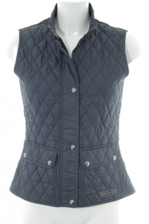 Belstaff Quilted Gilet dark blue quilting pattern casual look