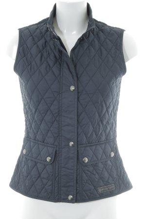 Belstaff Gewatteerd vest donkerblauw quilten patroon casual uitstraling