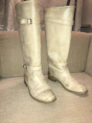 Belstaff Jackboots cream-oatmeal leather