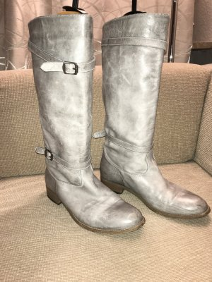 Belstaff Slouch Boots grey-silver-colored