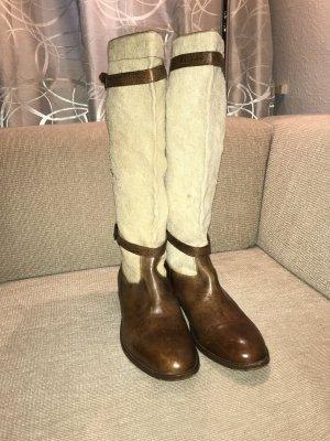 Belstaff Stivale alto marrone-crema
