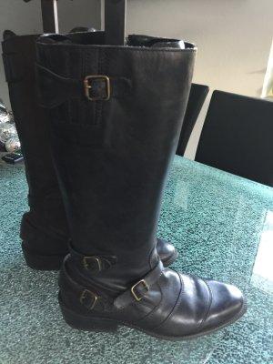 Belstaff Biker Boots black leather