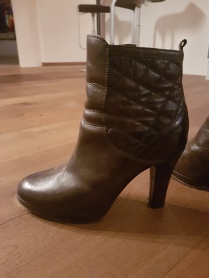 Belstaff Platform Booties brown leather