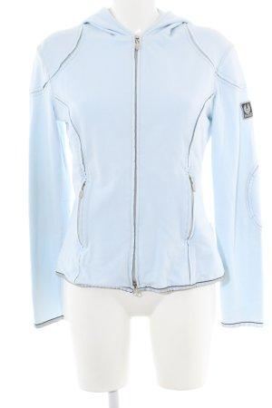 Belstaff Sweat Jacket blue printed lettering casual look