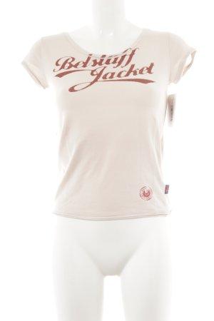 Belstaff T-Shirt hellrosa-ziegelrot Schriftzug gedruckt Casual-Look