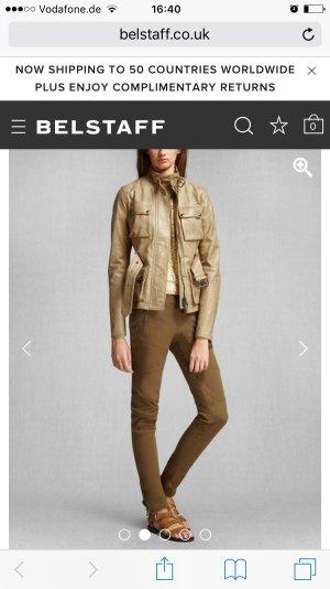Belstaff The Triumph Jacket (Größe: ital.38, Farbe: camel, Material: Kalbsleder)
