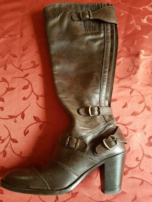 Belstaff High Boots dark brown leather