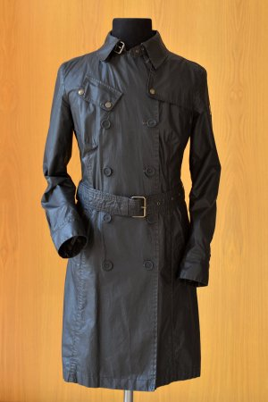Belstaff Coat black-anthracite mixture fibre