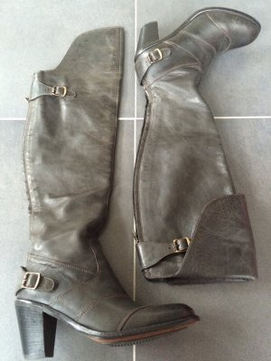 Belstaff Overknees silver-colored leather