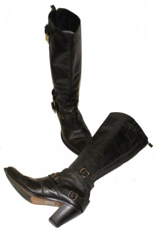 Belstaff Jackboots black leather
