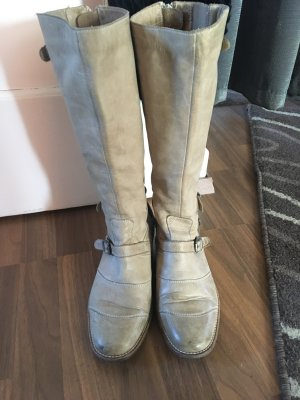 Belstaff Biker Boots sand brown leather