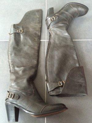Belstaff Botas sobre la rodilla color plata Cuero