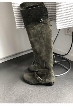 Belstaff Kniehoge laarzen groen-grijs