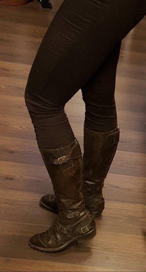 Belstaff High Boots dark brown