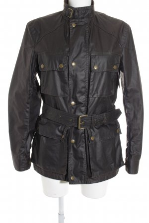 Belstaff Between-Seasons Jacket taupe-dark brown biker look