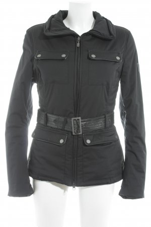 Belstaff Windbreaker black-silver-colored athletic style