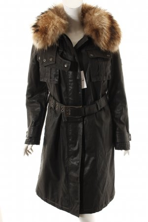 Belstaff Wintermantel schwarz Street-Fashion-Look