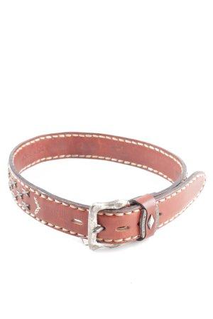 Belts Cinturón de cadera marrón-color plata look casual