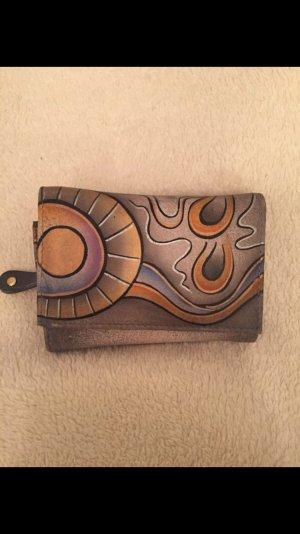 Greenland Art+Craft Portefeuille gris brun-gris foncé