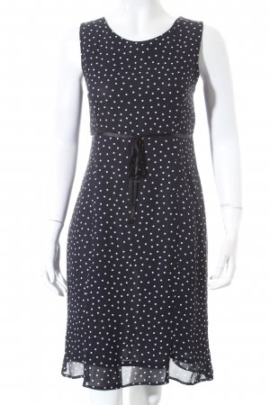 Ben Barton A-Linien Kleid dunkelblau-weiß Punktemuster Retro-Look