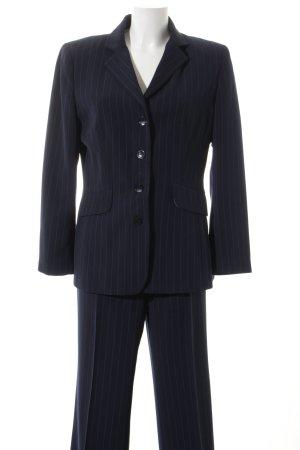 Ben Barton Tailleur pantalone blu scuro-bianco gessato stile professionale