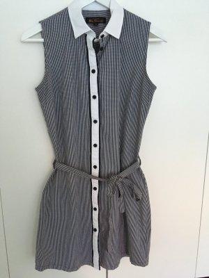 Ben Sherman Abito blusa camicia nero-bianco Cotone