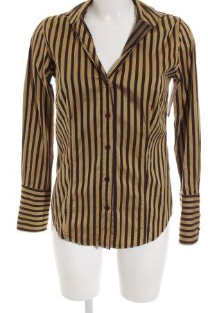 Ben Sherman Long Sleeve Shirt ocher-dark brown striped pattern business style