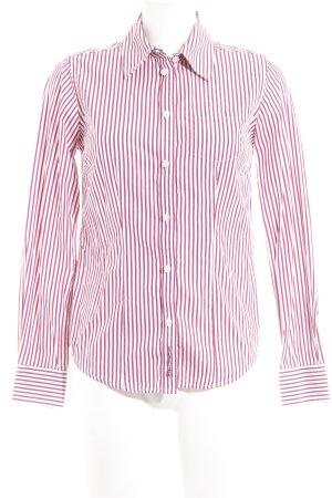 Ben Sherman Camicia a maniche lunghe bianco-rosso lampone motivo a righe