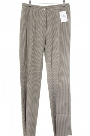 Benbarton Pantalon à pinces beige-noir motif rayé style d'affaires