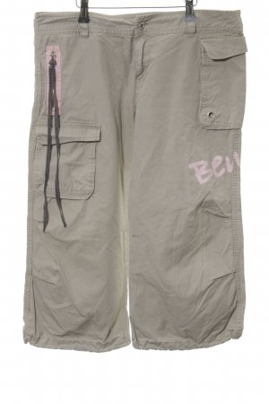 Bench 3/4 Length Trousers light grey-pink printed lettering casual look