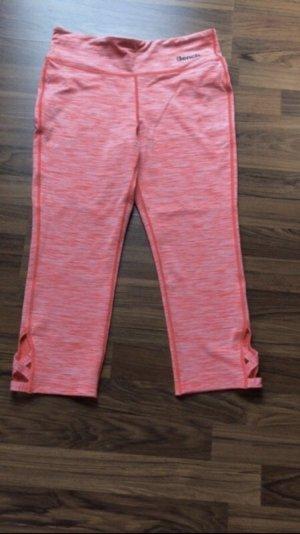Bench Pantalon 3/4 blanc-rouge fluo