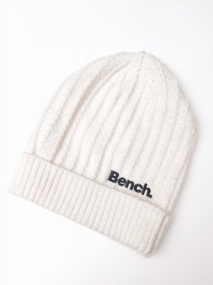 Bench Beanie Mütze aus Strick, anturweiß