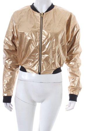 Bench Blouson goldfarben Metallic-Optik