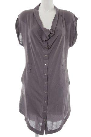 Bench Vestido camisero violeta grisáceo look casual