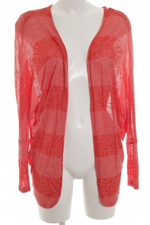 Bench Cardigan neonorange-lachs abstraktes Muster Casual-Look