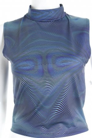 Bench Cropped Top blau-türkis psychedelic-Muster Street-Fashion-Look
