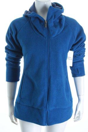 Bench Fleecejacke blau-dunkelblau Zackenmuster Casual-Look