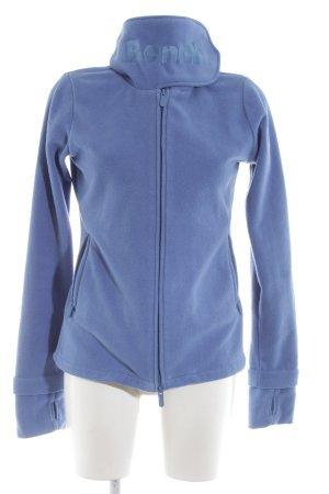 Bench Fleece jack blauw atletische stijl