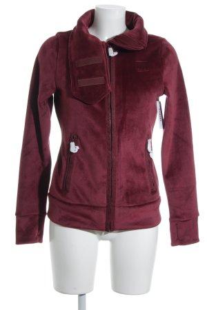 Bench Fleece Jackets dark red simple style