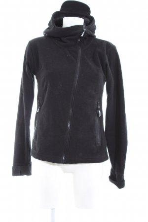 Bench Fleecejacke schwarz Casual-Look