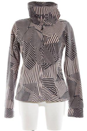 Bench Fleecejacke schwarz-pink grafisches Muster Street-Fashion-Look