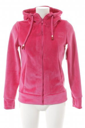 Bench Fleece jack roze casual uitstraling